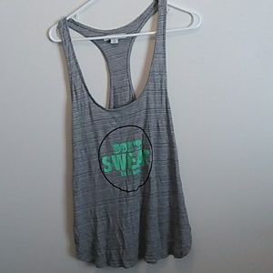 """""""Dont Sweat the Lil' things"""" Workout Tank Top L"""